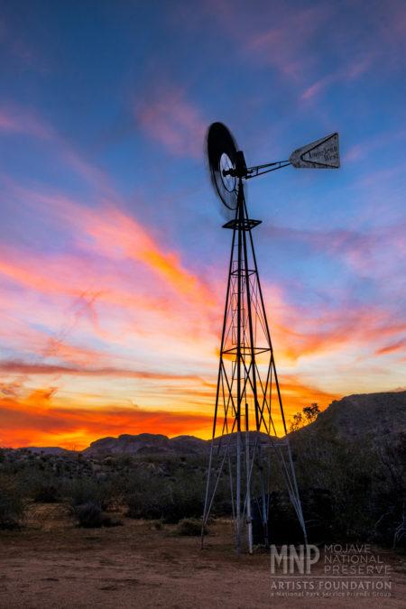 Wind milling at Sunrise